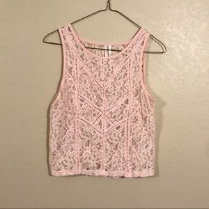 NWOT Wild Pearl Lace Crop Top